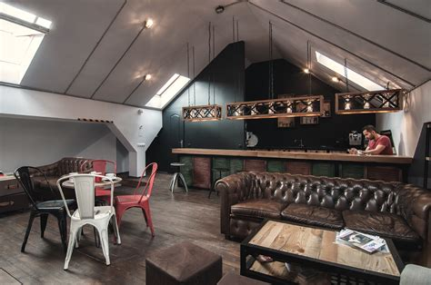 Coffee Shop Office Design | attic details table and bar the essence of a coffee shop