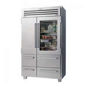 Sub Zero Refrigerator With Glass Door Sub Zero 648prog Glass Door Freestanding Refrigerator Townappliance