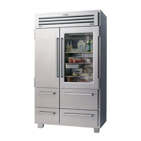 Glass Door Fridge Freezer Sub Zero 648prog Glass Door Freestanding Refrigerator Townappliance
