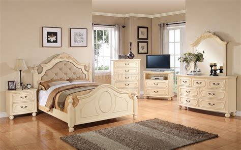 Beige Bedroom Furniture | g8090a 6pc bedroom set in beige by glory furniture
