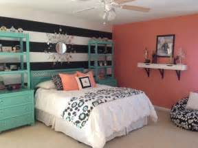 Coral Bedroom Ideas Girl S Teal Amp Coral Bedroom