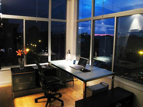 Brooklyn Home Office, Minimized, At Night   Flickr   Photo
