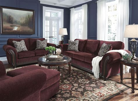 chesterbrook burgundy sofa and loveseat chesterbrook burgundy loveseat from 8810235