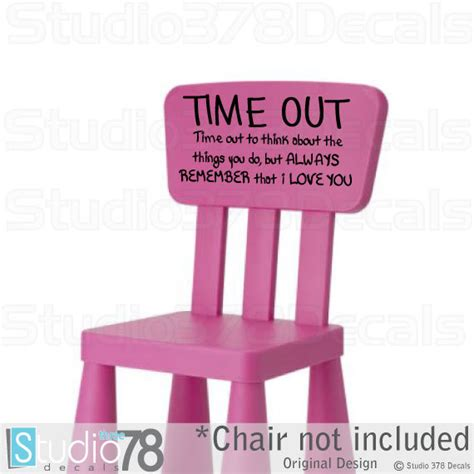 time out bench toddler time out chair vinyl decal toddler naughty chair sticker