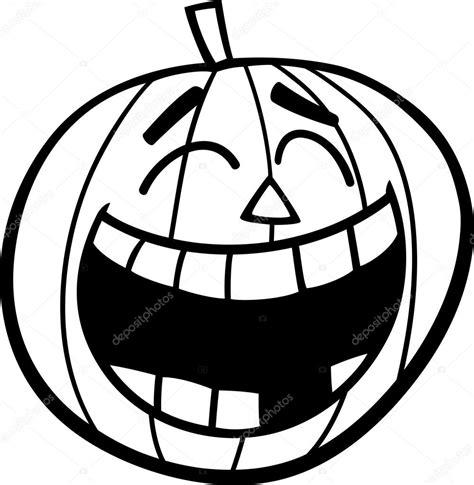 imagenes de halloween a blanco y negro coloriage citrouille en riant image vectorielle