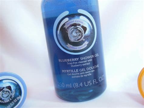 The Shop Shower Gel Blueberry the shop blueberry shower gel review swatch