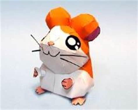 Hamster Origami - diy hamtaro hamster origami 3d japan anime model paper ebay