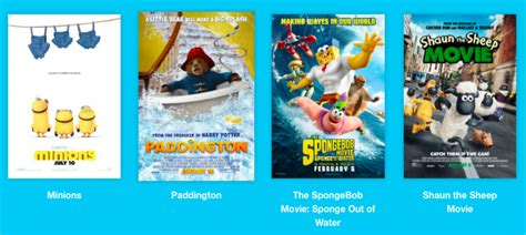 cineplex family favorites spring break at the movies
