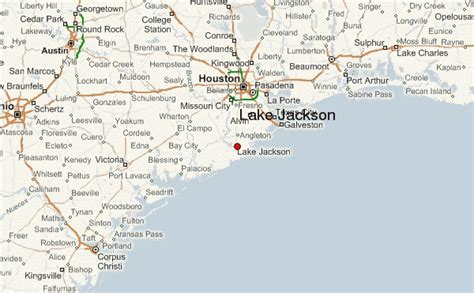 where is lake jackson texas on map lake jackson location guide