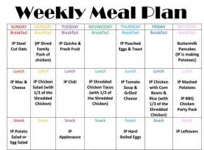 instant pot weekly meal plan week 1 homeschool base