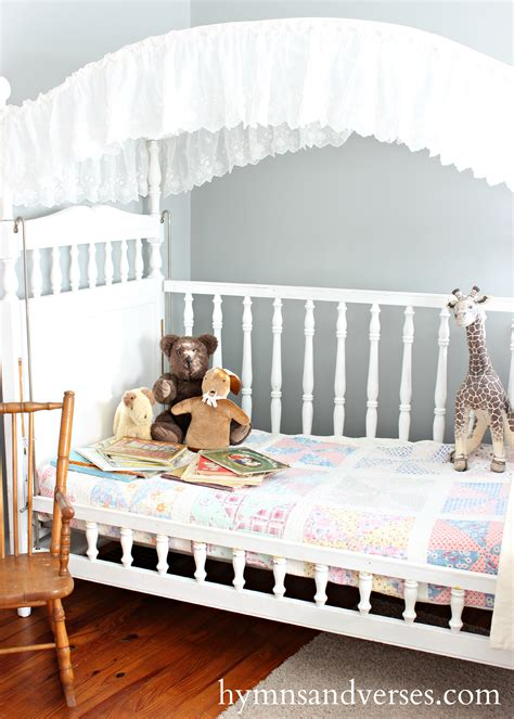 Crib Day Bed Canopy Crib Becomes A Cozy Daybed Hymns And Verses