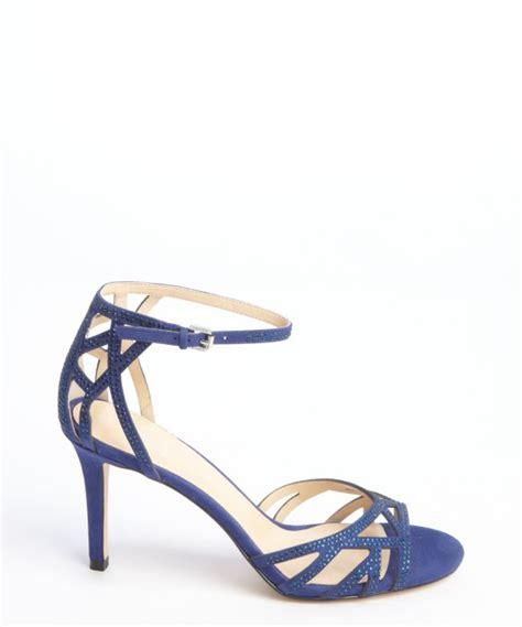navy blue strappy sandals ivanka navy suede gifford strappy sandals
