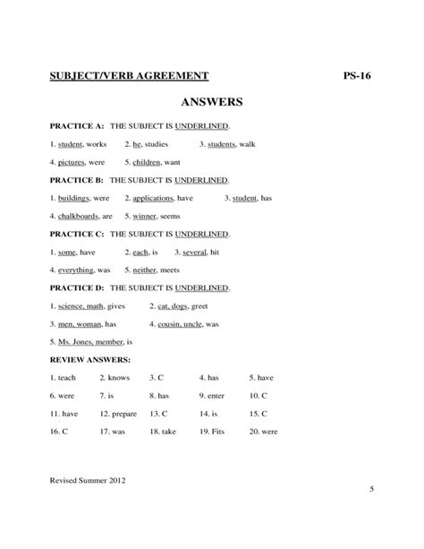 printable worksheets subject verb agreement subject verb agreement worksheets sle free download