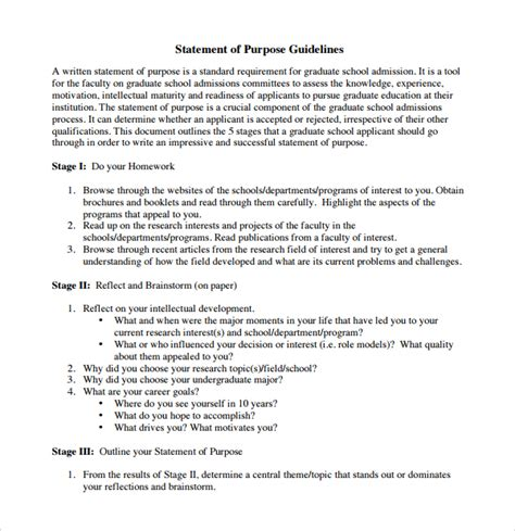 Graduate School Essays Sles by How To Write Statement Of Purpose For Graduate Admission