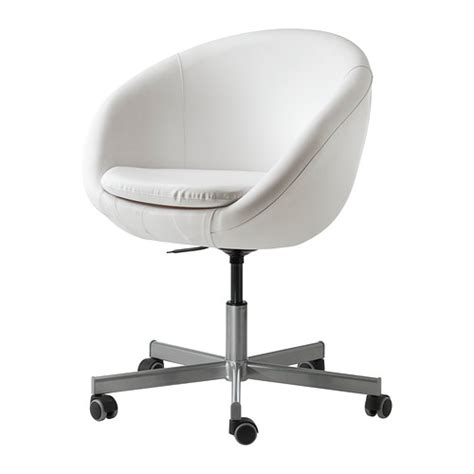 skruvsta swivel chair idhult white ikea
