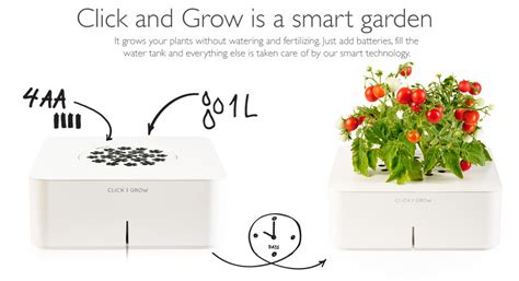 click and grow garden grow your very own smart garden with click grow
