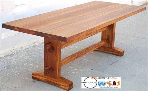 meja makan kayu jati utuh furniture jepara minimalis murah