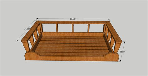 porch bed swing plans bed swing woodworking plans