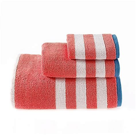 riviera bathrooms buy riviera stripe bath towel in coral from bed bath beyond