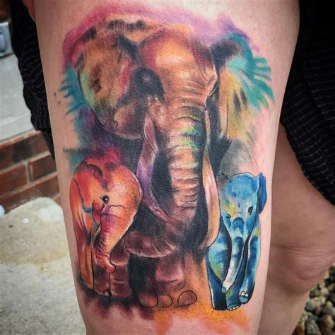 watercolor tattoos instagram best 25 watercolor elephant tattoos ideas on