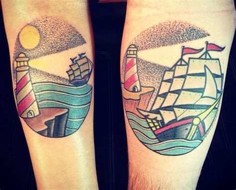 nautical couple tattoos 93 best images about lighthouse on