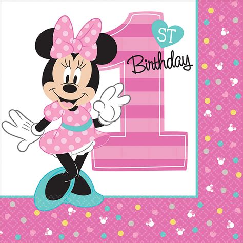 Minnie Mouse St Birthday Decorations by Minnie Mouse 1st Birthday Supplies Theme Packs