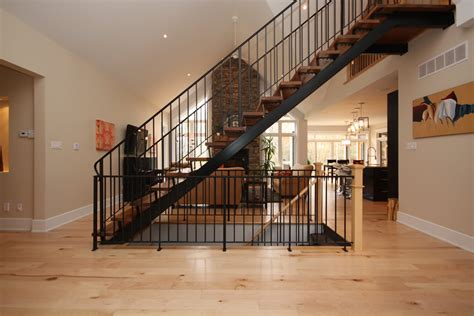 Installing Stair Banister Nice Basement Stair Railing John Robinson House Decor