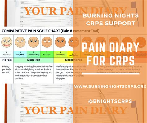 pain diary for crps template