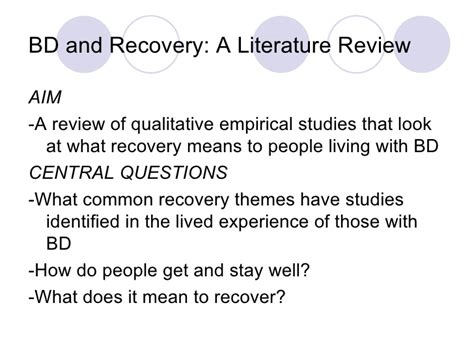 common themes in literature review bipolar disorder and recovery