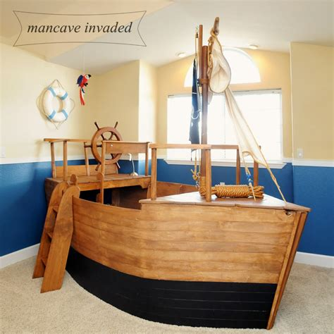 Pirate Ship Bedroom boat bed years later mancave invaded