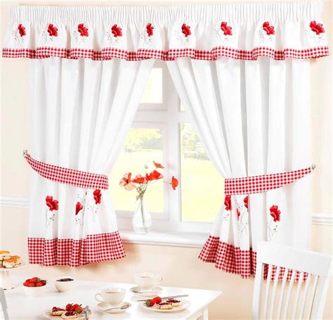 voile cafe net curtains red poppy flower voile cafe net curtain panel kitchen