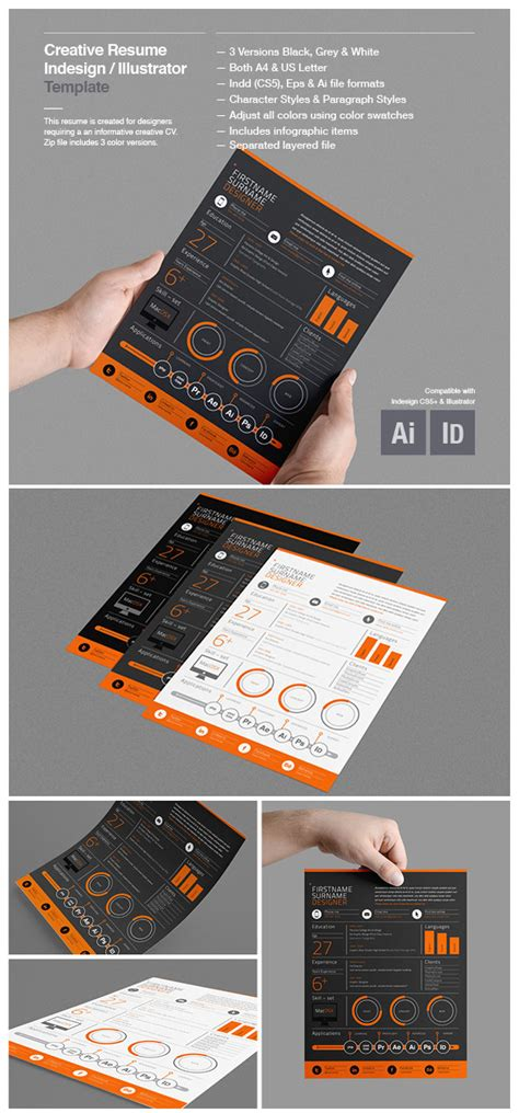 18 Creative Infographic Resume Templates For 2018 Creative Graphic Design Layout Templates