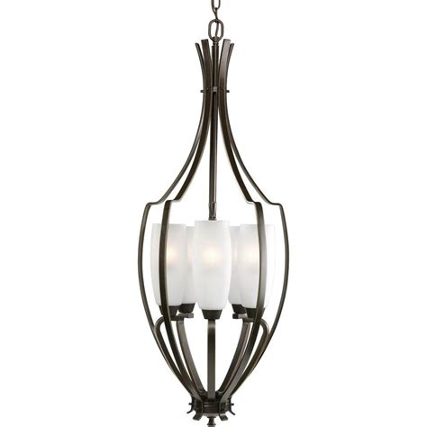 home depot foyer lighting progress lighting piedmont collection 4 light burnished