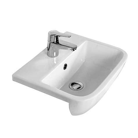inset basin bathroom rak series 600 semi recessed basin 420mm uk bathrooms