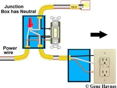how to wire a light switch and outlet diagram