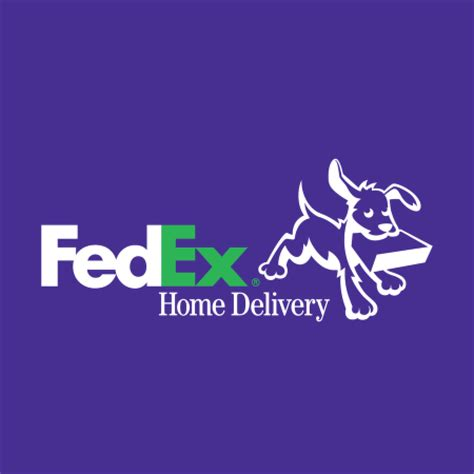 fedex home delivery logo vector in eps vector