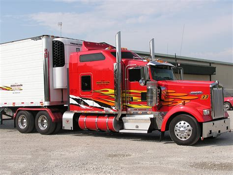 kenworth trailers big trucks kenworth w900 with rigmaster minimizer