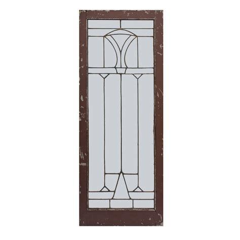 antique american leaded glass window geometric