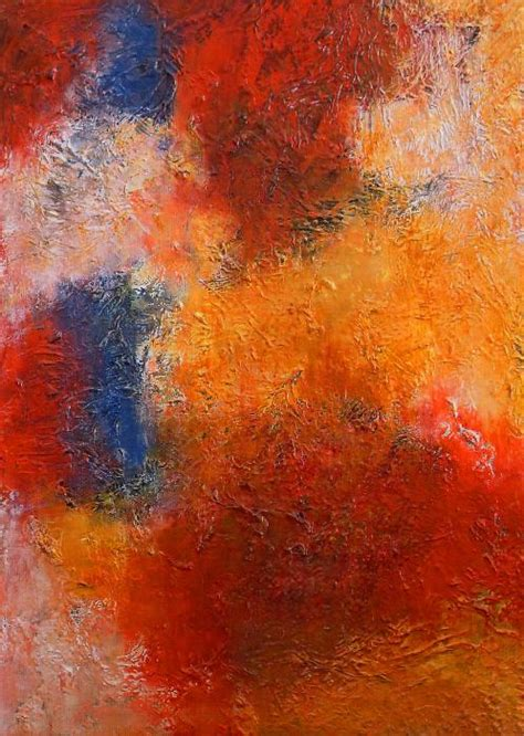 abstract in warm colors by angela anelli