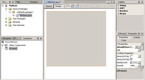javabeans tutorial lesson using the netbeans gui builder the java