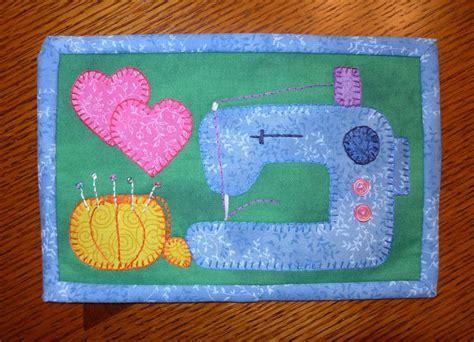 mug rug patterns sewing machine mug rug by sher s patterns craftsy