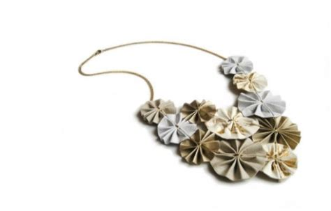Origami Jewelry Home - folded paper jewelry that makes origami look chic green