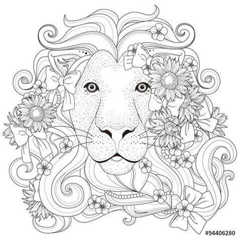 lion blumen vektor lovely lion coloring page how cool is this