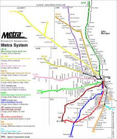 Train Line Map Chicago by Chicago Regional Rail Metra Map