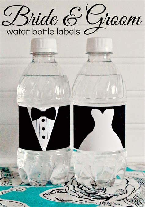 wedding water bottle labels template free free printable and groom wedding water bottle labels