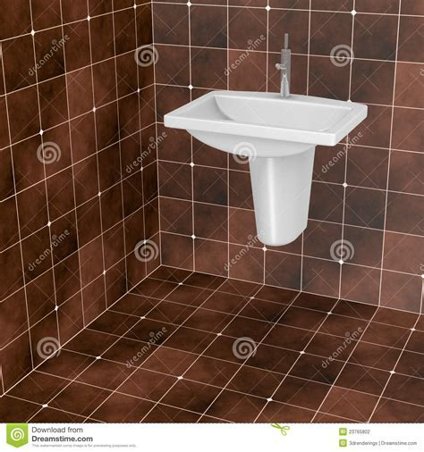 Dark brown bathroom tiles stock illustration. Image of