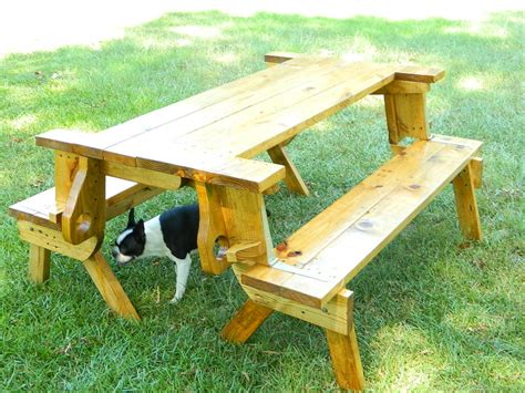 bench folds into picnic table plans for building a folding picnic table wooden
