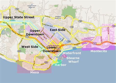 santa barbara map santa barbara real estate and market trends