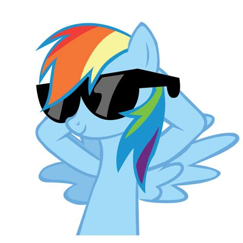 my cool mlp rainbow dash 20 cooler vector by goldfisk on deviantart