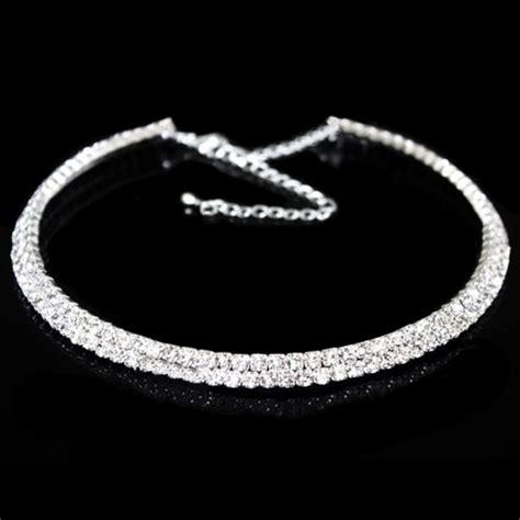 brautschmuck collier strass brautschmuck 1 5rows diamant halsband strass choker